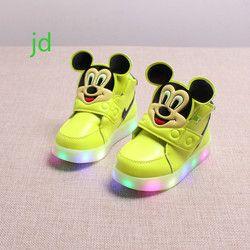 2018 niños del resorte nuevos ocio Led niñas luminiscente bebé deportes zapatos luminosos niños brillantes niños zapatillas luces