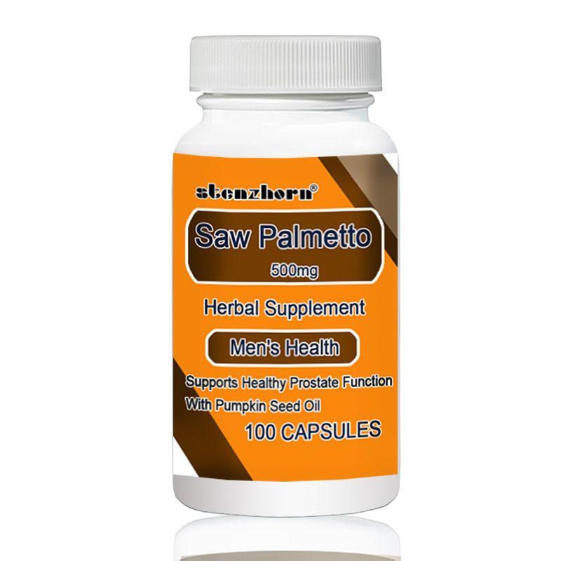 Sägepalme 500 mg 100 stücke Unterstützt Gesunde Funktion der Prostata Mit Kürbis Samen Öl
