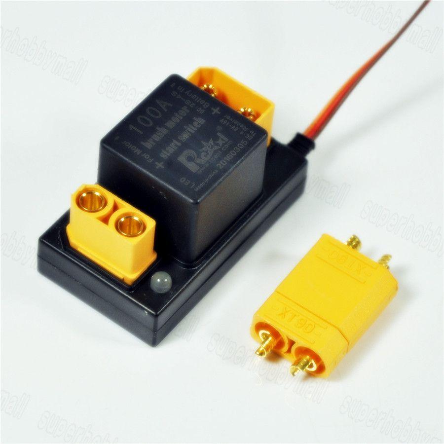 Rcexl 100A brosse démarrage du moteur électronique commutateur de relais v1.0 pour DLE EME 35 55