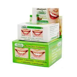 Травы натуральный травяной Clove Таиланд Зубные пасты отбеливание зубов Зубные пасты для чистки зубов антибактериальные аллергических зубна...