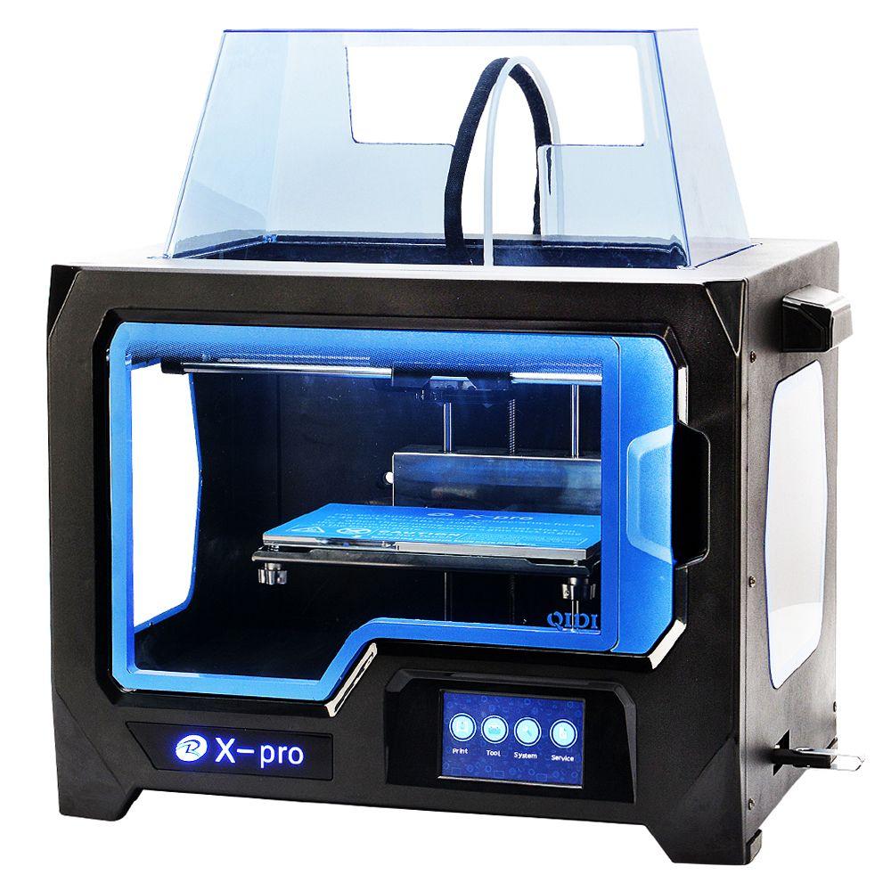 QIDI TECHNOLOGIE 3D-DRUCKER Neue Modell pro, 4,3 Zoll Touchscreen, Dual Extruder Mit 2 Spool von Filament, Arbeitet Mit ABS Und PLA