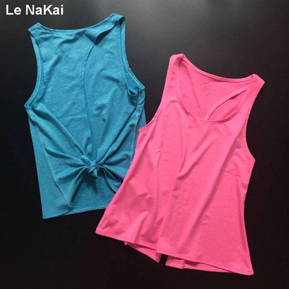 Femmes dos ouvert Yoga réservoir T-shirts sans manches hors épaule sport t-shirt dos nu Crop hauts Racerback Gym vêtements d'entraînement