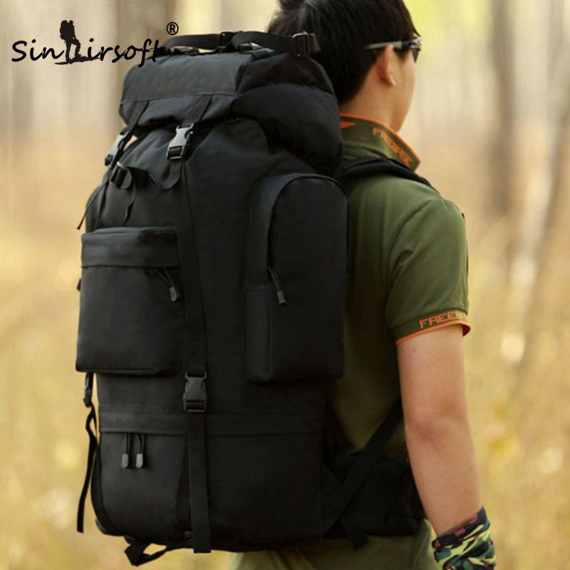 SINAIRSOFT Men Military Backpack Waterproof Nylon Large Molle Bag Multi-function Camouflage Pack 65L Rucksack Tactical Bag