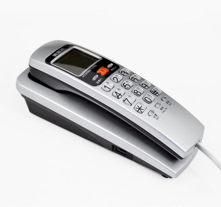Wall landline telephone hotel desk put small household extension Caller ID