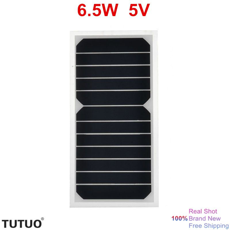 6.5W 5V High Efficiency Sunpower Chip Solar Power Bank Mobile Charger DIY Panel Style USB for Apple Samsung xperia etc 5V device