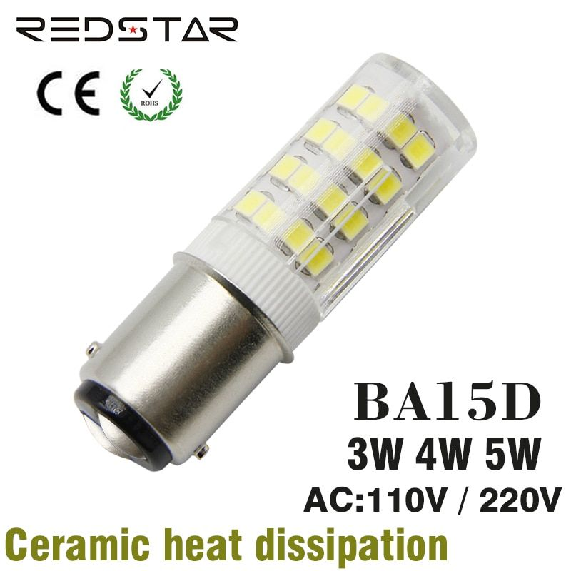 BA15D LED light Bulb base 3W 4W 5W Replacement Halogen Lamp 30W 40W 50W Equivalent , AC 110V-120V or 220V Sewing Machine Lamp