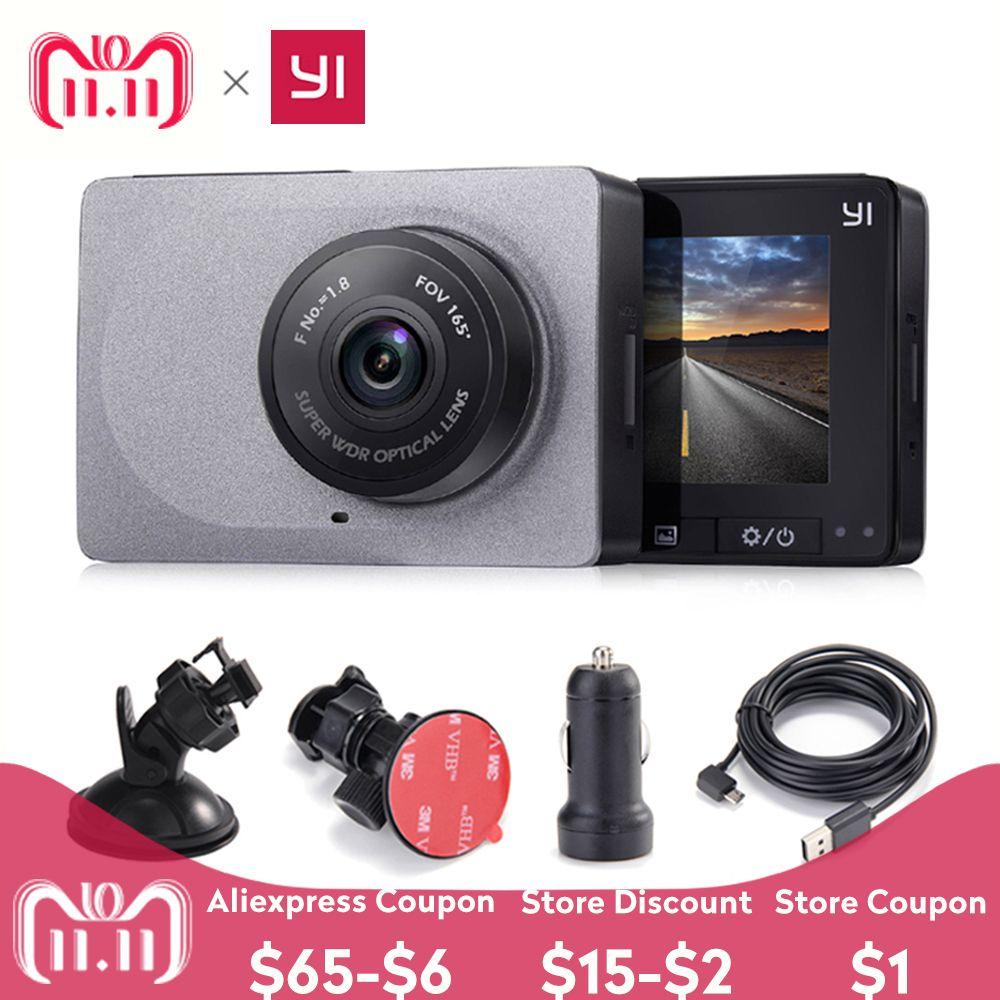 [Édition internationale] Xiaomi YI Smart Car DVR 165 degrés 1080 P 60fps détecteur de voiture 2.7 caméra de tableau de bord ADAS rappel de sécurité Dashcam
