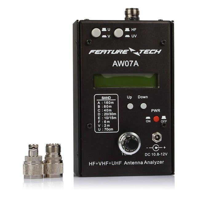 AW07A HF/VHF/UHF 160M Impedance SWR Antenna Analyzer for Ham Radio Hobbists DIY Walkie Talkie Two Way Radios