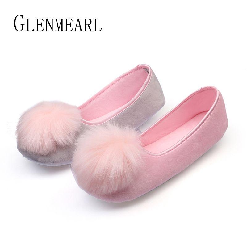 2019 offre spéciale femmes intérieur chaussures maison pantoufles printemps automne chaud flanelle doux doux pantoufles confortables chaussures plates enceintes Shoes45