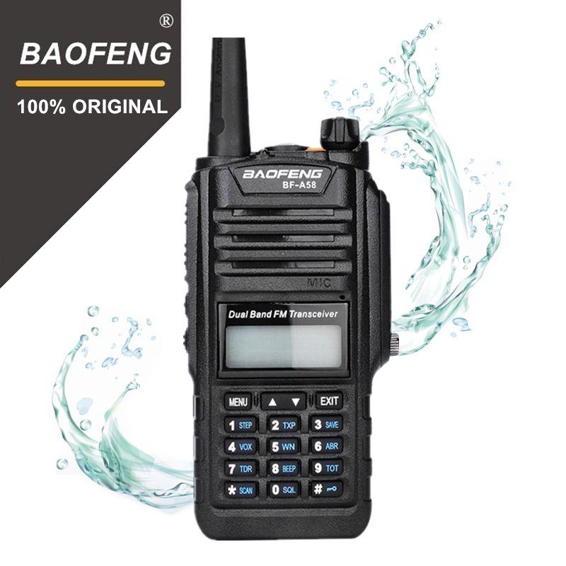 100% Original Baofeng BF-A58 Flash Light IP67 Waterproof Telsiz 10km Two Way Radio Comunicador Baofeng Uv-9r Plus Walkie Talkie