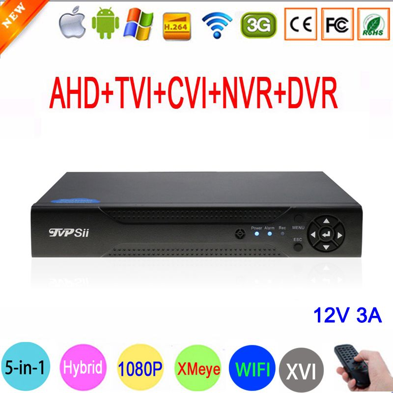 1080P 2mp CCTV Camera XMeye Hi3521A 16 Channel 16CH 1080N 6 in 1 Hybrid Wifi XVI TVi CVI NVR AHD DVR Surveillance Video Recorder