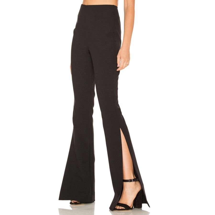Flare Pants Women Slim Black Casual Bell Bottom High Waist Flared Trousers Women Fashion Pantacourt American Apparel 60K060
