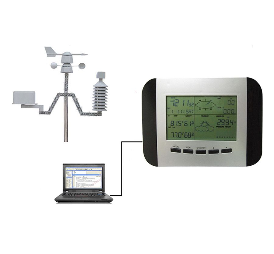 WS1041 Professional Weather Station Thermometer Humidity Rain Pressure Data Recorder with PC Interface