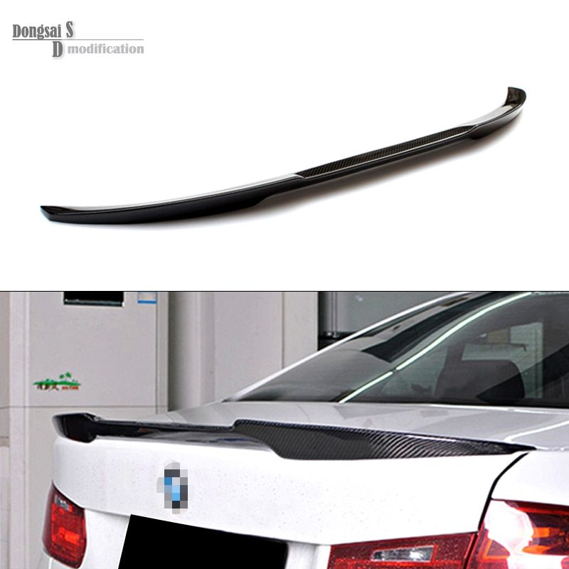 3 Series F30 M4 Style Carbon Fiber Gloss Black Rear Trunk Spoiler Wings Trunk Lip for BMW F30 F80 M3 2012 + 320i  325i 328i 335i