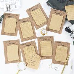 Semana plan Lista de la Multi-function autoadhesivo n veces Memo pad sticky mini notas Marcadores escuela Oficina fuente