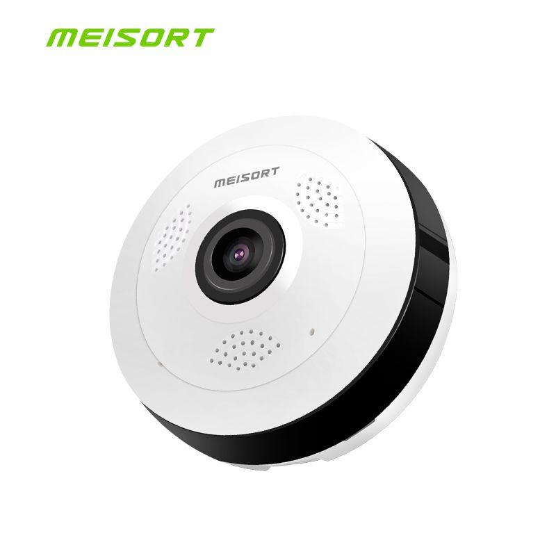 Meisort Fisheye VR Panoramique wifi Caméra 960PH sans fil réseau Wifi IP Caméra de Sécurité À Domicile Caméra Wi-fi 360 degrés