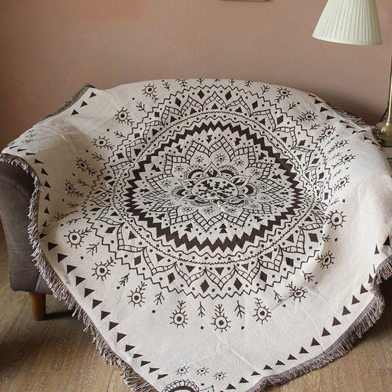 Doppel seiten multi fuction mandala baumwolle decke, 120*170 cm langlebige tragbare tröster, sofa abdeckung, pet decken, tischdecke
