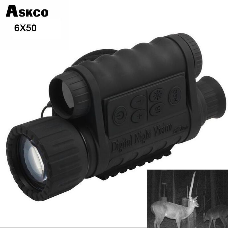Hunting Digital Infrared 6X50 Night Vision Monocular telescope 5MP HD 350m Range For Picture Video Shooting NVH650