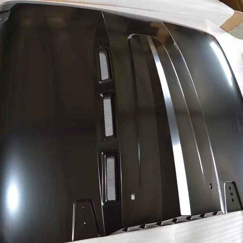 J076 Avenger haube Schwarz stahl für jeep wrangler 2007-2017 auto zubehör Chassis abdeckung Lantsun