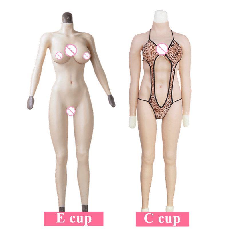 C E Tasse Whole Körper Silikon Strumpfhosen Brust Formen Mit Gefälschte Riesigen Titten Für Transen Crossdresser Transgender Transsexual Cosply