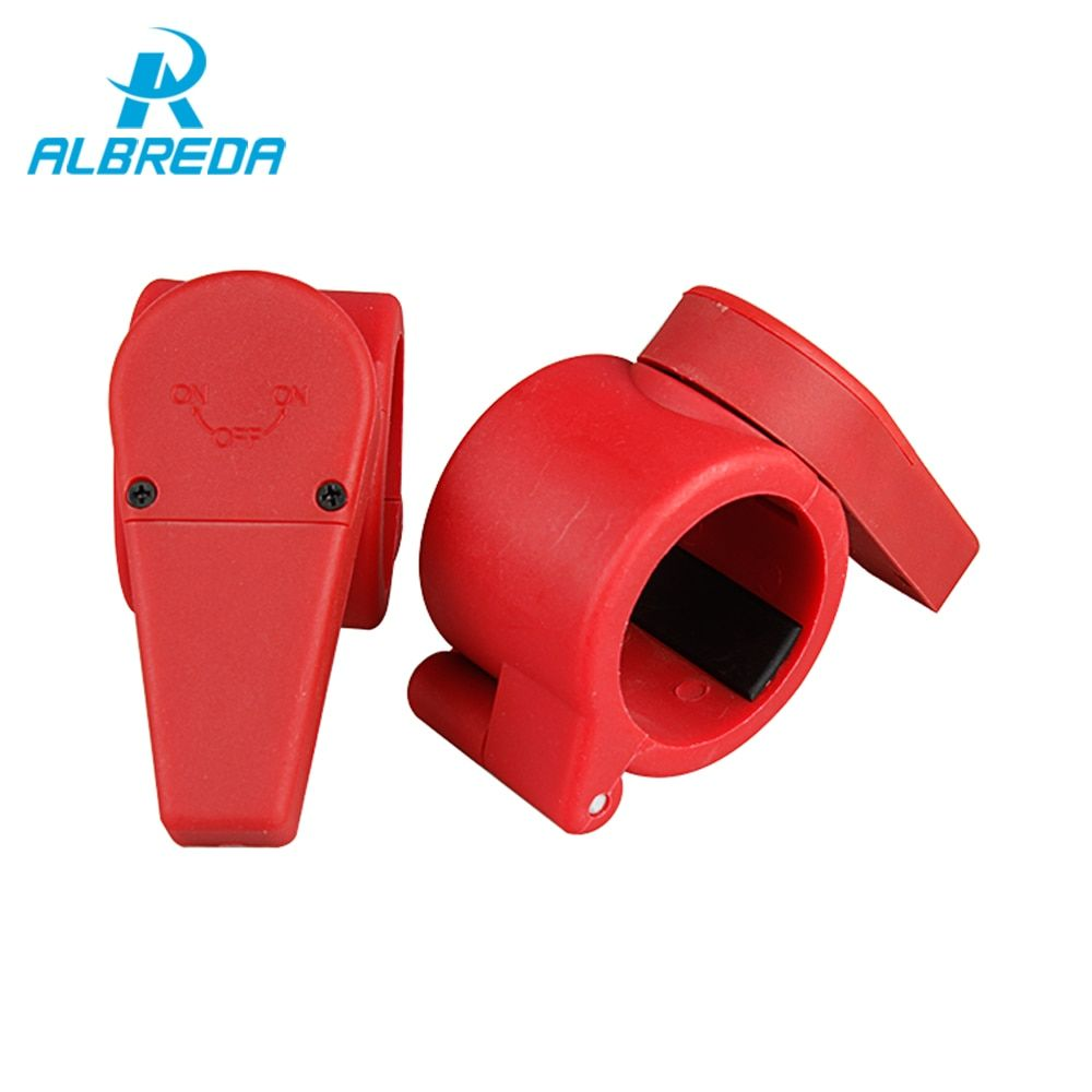 ALBREDA 1 Pair Barbell Clip Collars Spinlock Fitness Dumbell Clips Clamp Weight lifting Dumbbell Lock Bodybuilding Red