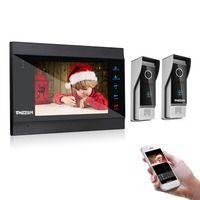 TMEZON дюймов 7 дюймов беспроводной/Wi Fi Smart Видео-звонок дверной домофон системы с 1 ночное видение мониторы + 2 непромокаемые двери телефон каме...