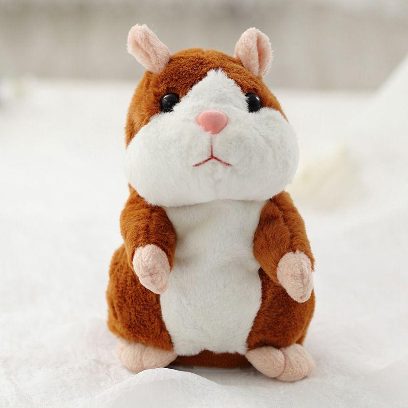 Dropshipping Promotion 15 cm Belle Parler Hamster Parler Parler Sound Record Répéter En Peluche En Peluche Animal Kawaii Hamster Jouets