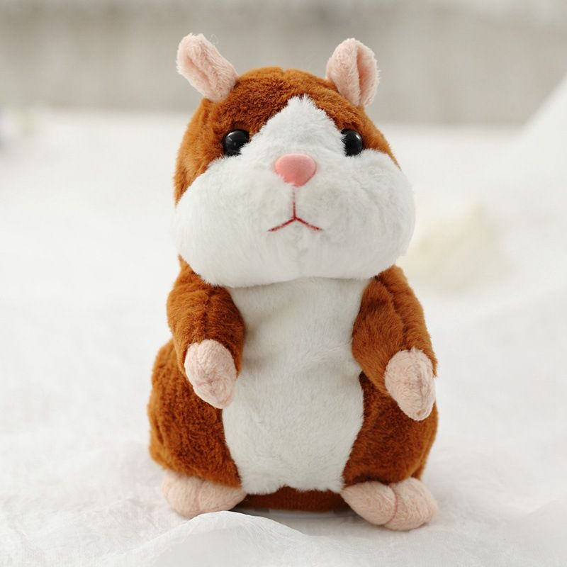 Livraison directe Promotion 15 cm belle parler Hamster parler parler son enregistrement répéter peluche animaux Kawaii Hamster jouets
