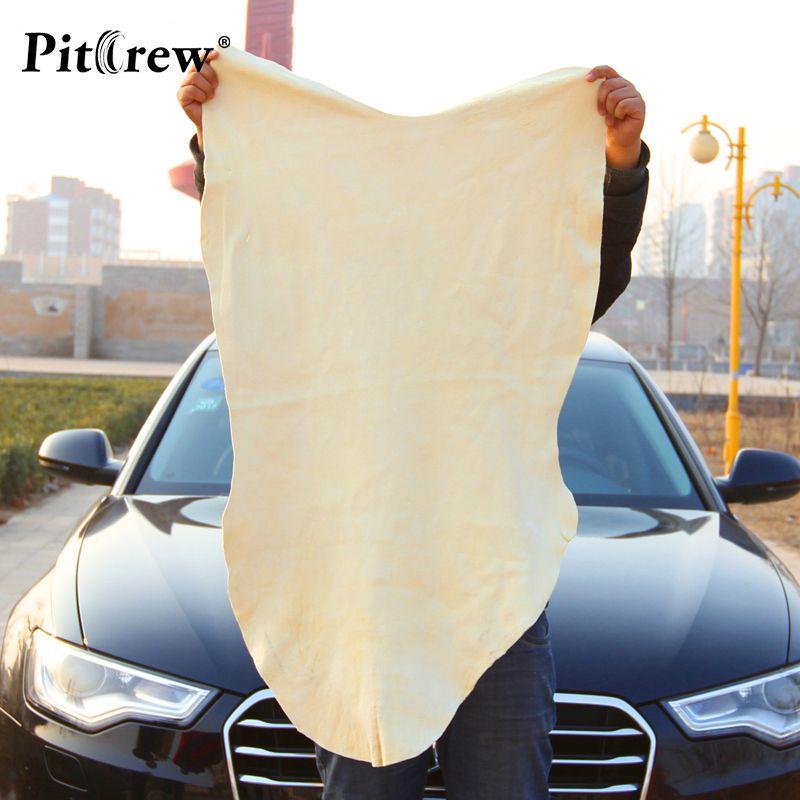 Livraison gratuite séchage serviette de nettoyage naturel en cuir véritable Chamois chammy éponge tissu en peau de mouton serviette absorbante lavage de voiture