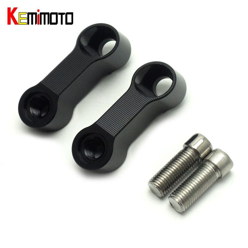KEMiMOTO MT09 MT07 Mirrors Extension Riser Extend Adapter For Yamaha MT 09 07 Fazer FZ-09 V-max 1700 Bolts Size 10mm 0.4inches