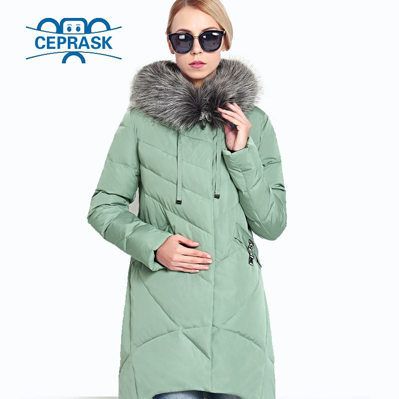 2018 New Winter Women's Coat Plus Size Hooded Fashion Warm Women Down Jacket High-quality Biological-Down Female Parkas Ceprask
