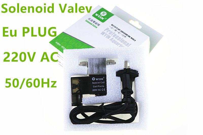 Ue PLUG 220V AC nouvelles plantes d'aquarium CO2 vanne magnétique électrovanne utilisation pour la nuit couper le réservoir de poisson 5 régulateur de couleur