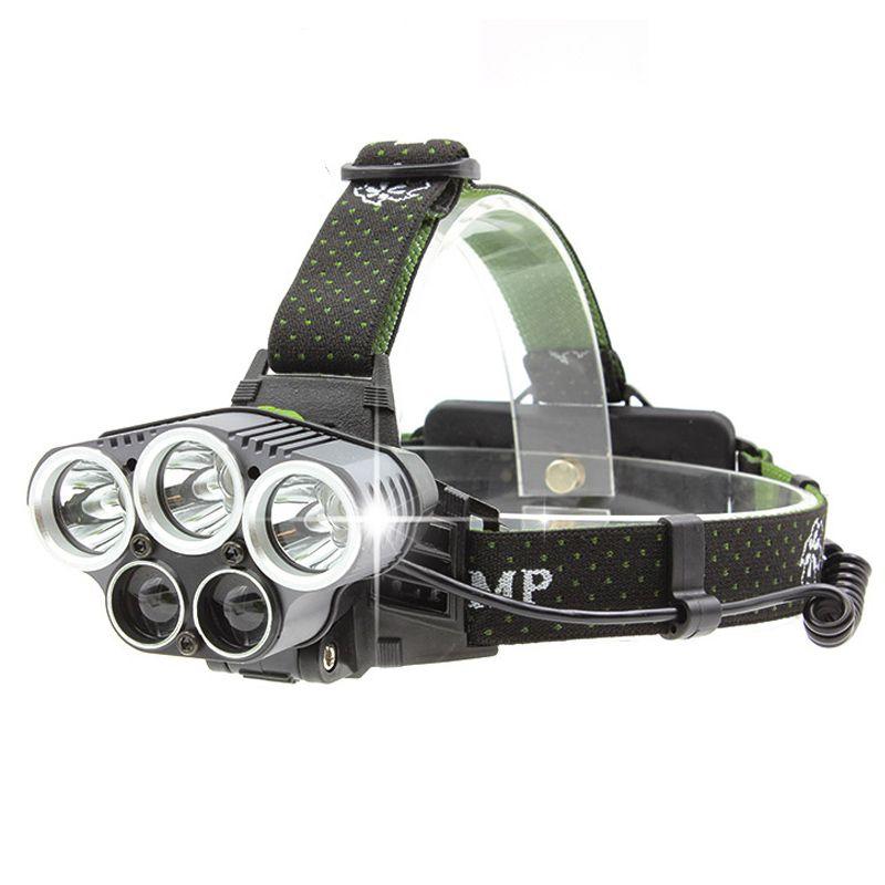 Huasign LED ultra lumineuse phare 5 LED s phare 8000 lumens XML T6 XPE Q5 LED phares de pêche camping randonnée lumière de secours