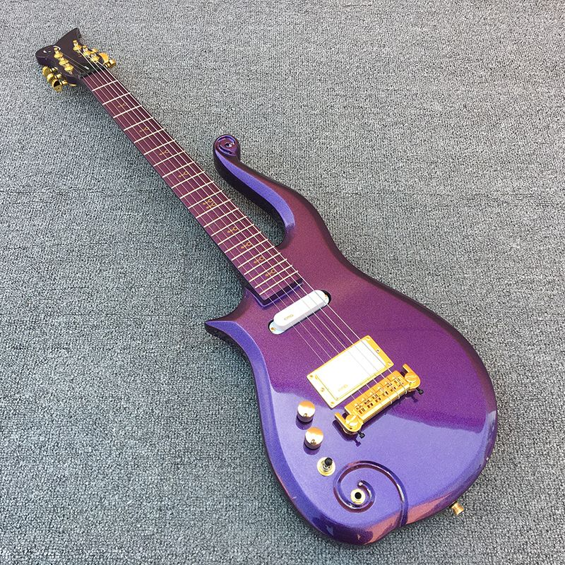 2018 New,Prince Cloud Left hand electric guitar,Maple fingerboard with Purple body!1*humbucker 2*single coils,free shipping!