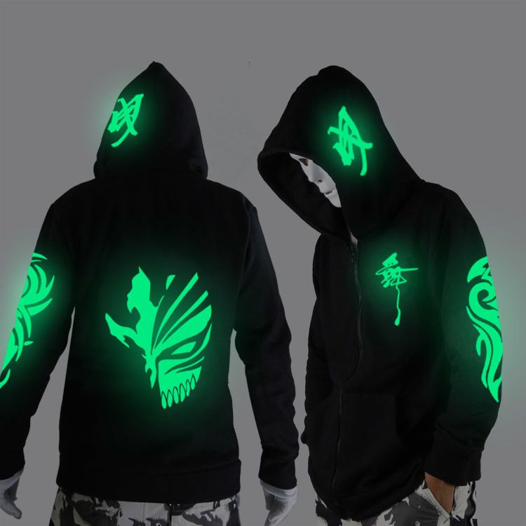 Noctilucent long-sleeved jacket clothes loose coat and students fashion clothing dance night <font><b>shining</b></font> clothing ghost dance