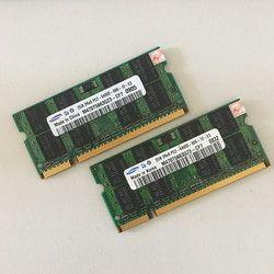 Livraison Gratuite SAMSUNG 2 GB 2RX8 PC2-6400S 800 Mhz DDR2 2 gb Ordinateur Portable Mémoire 2G pc2 6400 800 MHZ portable Module SODIMM RAM