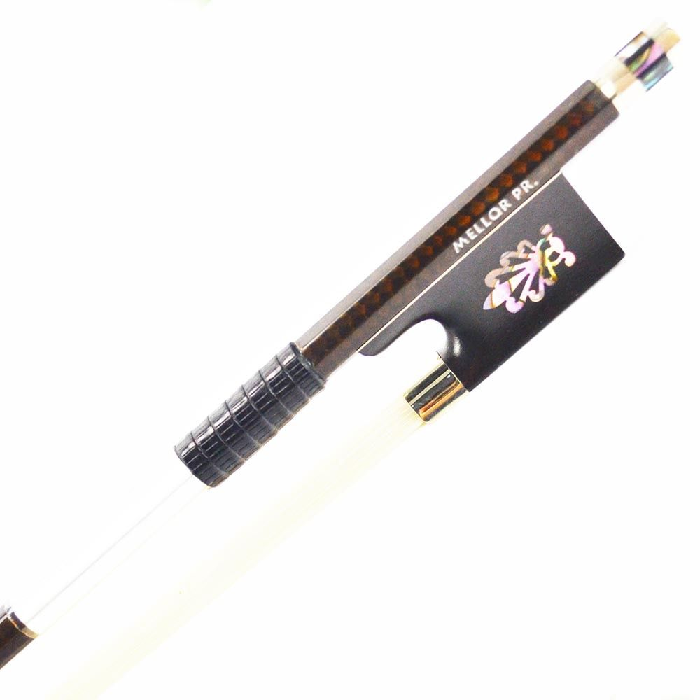 Silver Mounted Golden Diamond Carbon Fiber Violin Bow Melody and Sweet Tone MELLOR Professional Level P6