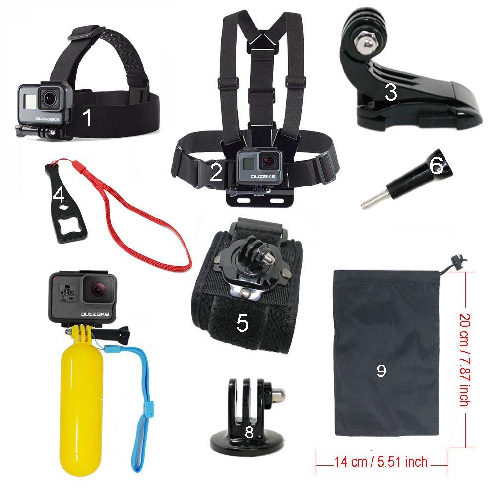 Set d'accessoires pour Gopro hero 5 pour Yi 4 K sangle de fixation de la tête de poitrine flotteur bobber pour Go pro SJCAM pour caméra d'action Sport Eken