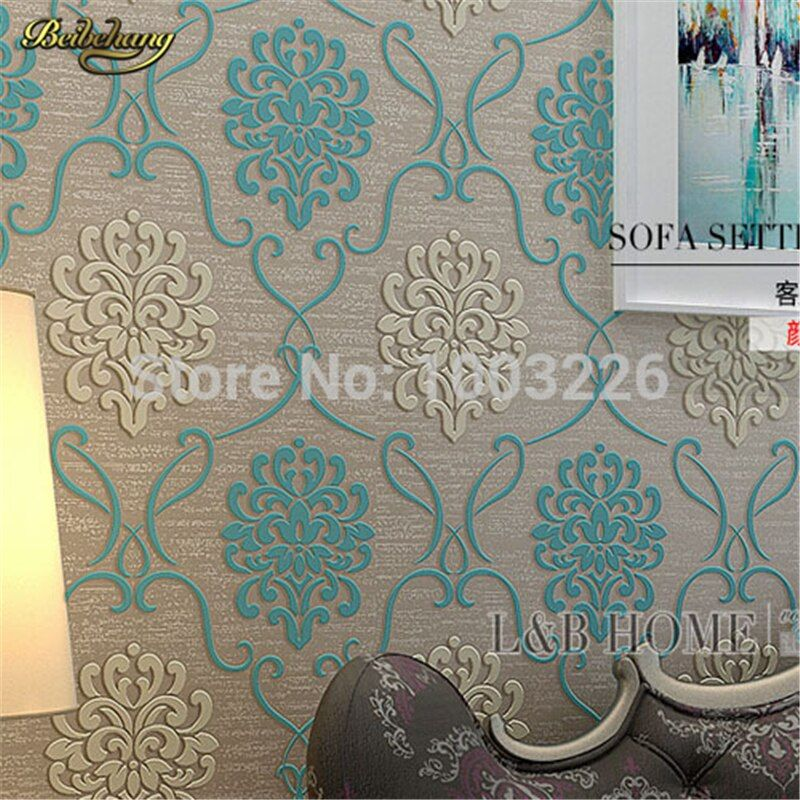 Beibehang Floral Fondos de Pantalla para sala Revestimiento de Pared Flor TV Dormitorio En Relieve Con Textura Wallpaper rollo papel de parede