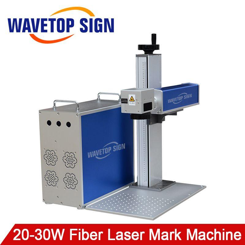 WaveTopSign 20 W 30 W Fiber Laser Mark Maschine Körper + Control box + Lift Arbeitstisch + Laser Pfad + aluminium Platte Basis Verwenden Können Max Laser