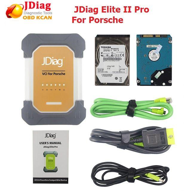 Original JDiag Elite II pro Universal Auto J2534 Diagnose ECU Programmierer für porsche mit software berufsdiagnosewerkzeug