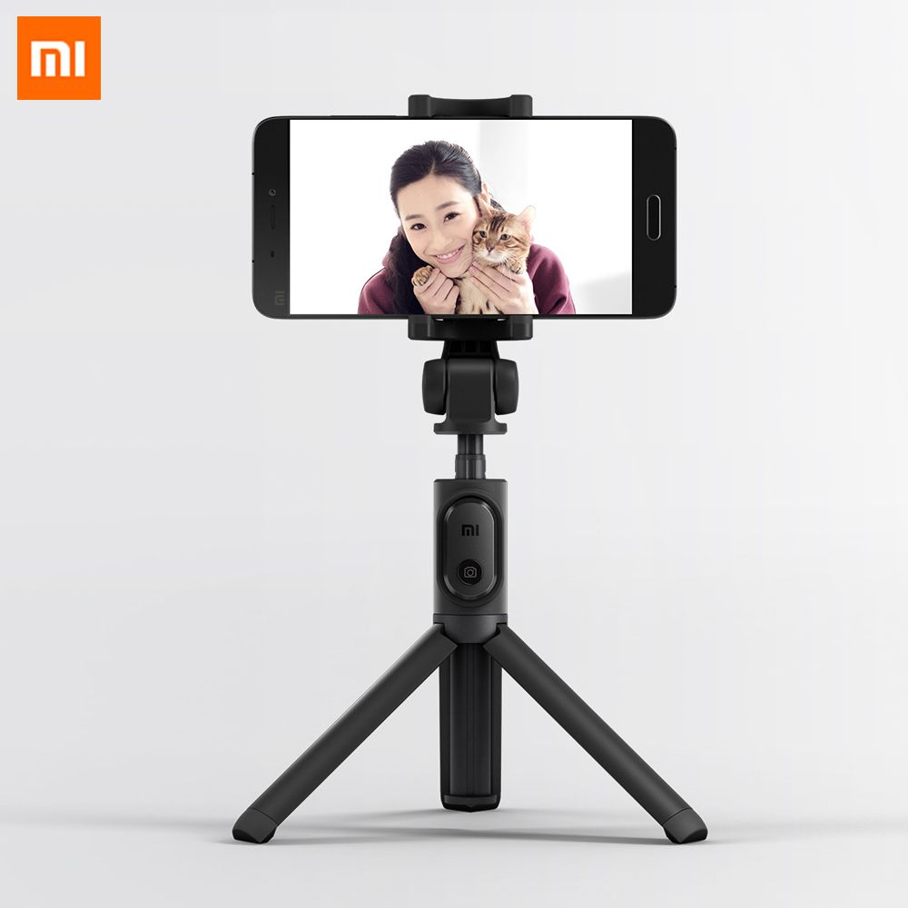 D'origine Xiaomi Pliable Trépied Manfrotto Selfie Bâton Bluetooth Avec Sans Fil Bouton D'obturation Selfie Bâton Pour iOS/Android/Xiaomi