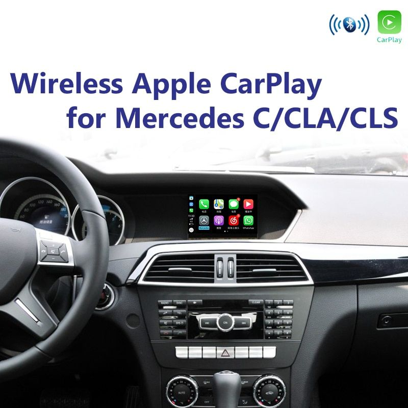 Joyeauto WIFI Drahtlose Apple Carplay für Mercedes NTG4.5 4,7 C CLA CLS Klasse W204 2013-2015 Upgrade Android Auto spotify Waze