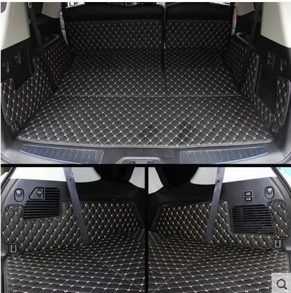 Good quality! Special trunk mats for Infiniti QX80 8seats 2017-2014 durable cargo liner boot carpets for QX80 2016,Free shipping