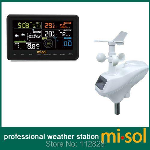 Wireless weather station connect to WiFi, upload data to web weathercloud, wunderground, weatherbug