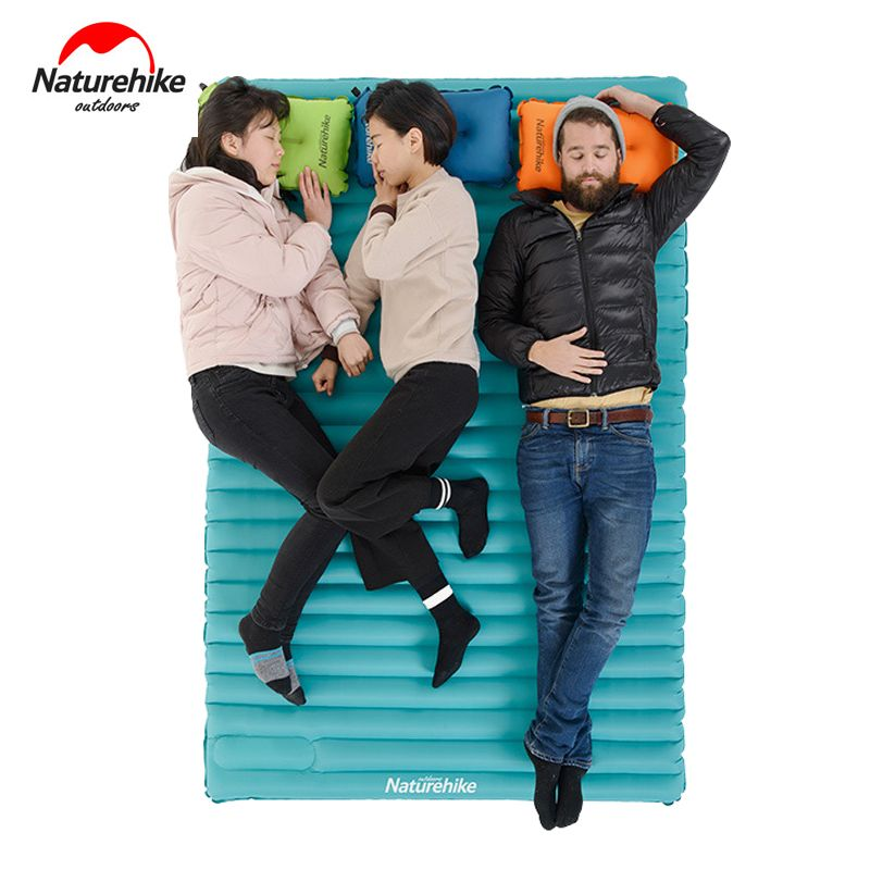 2-3 Persons Naturehike Utralight Outdoor Camping Mat TPU Portable Camping Hiking Tent Bed Inflatable Air Mattress NH17T120-C