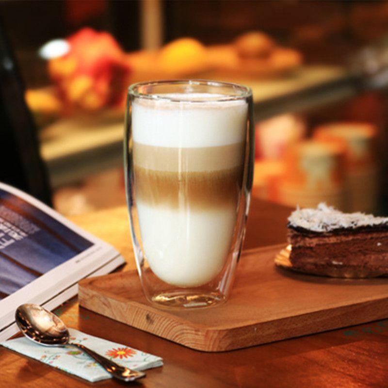80/250/350/450 ml résistant à la chaleur Double paroi verre tasse bière café tasses à la main boisson saine tasse thé tasses Transparent boisson