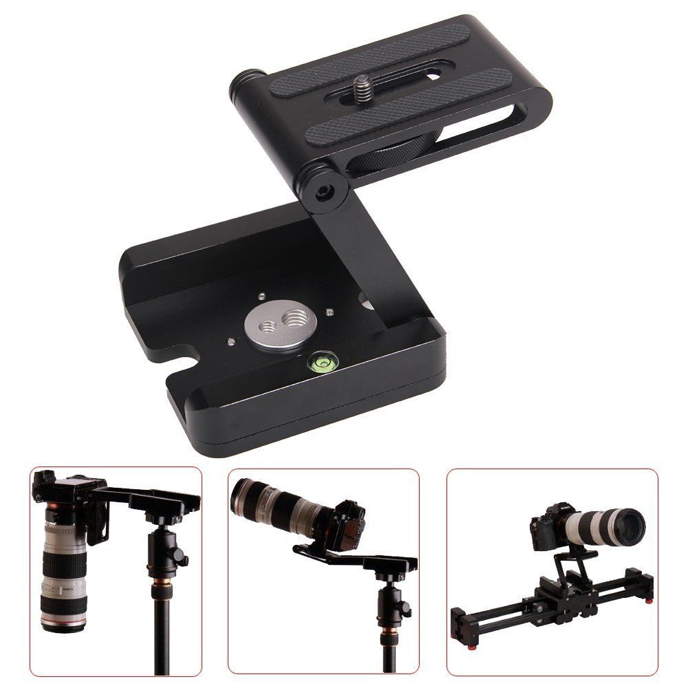 Professional Camera Flex Tripod Z Pan & Tilt Aluminum Folding Z Tripod BRACKET <font><b>Head</b></font> Solution Photography Studio