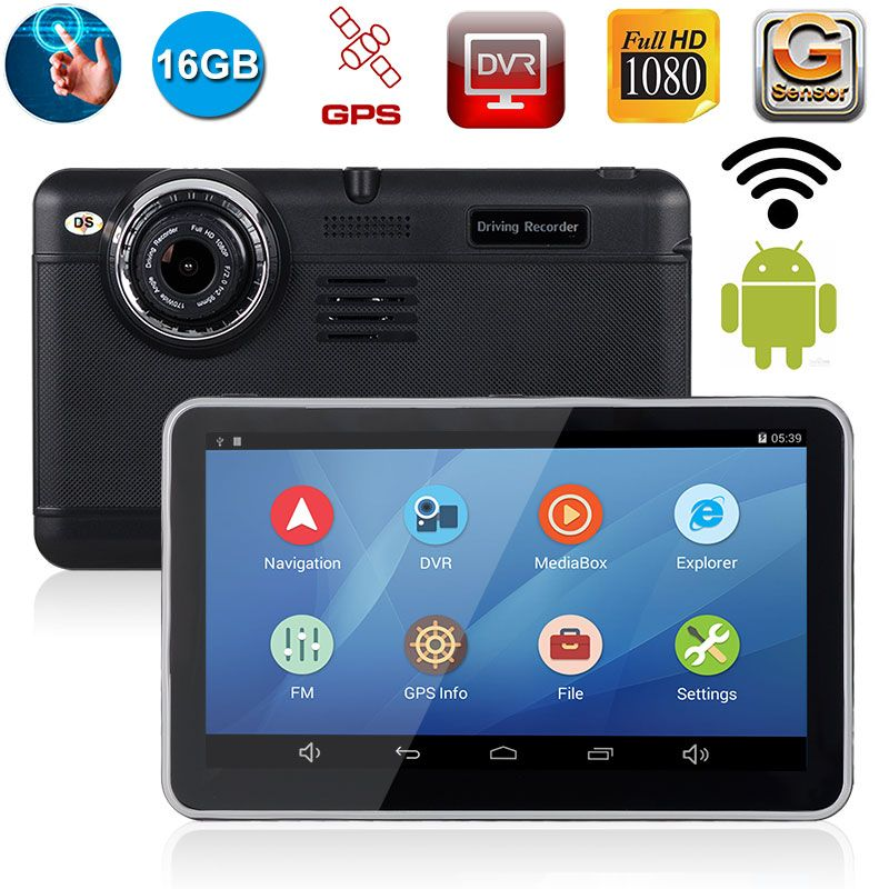 Xgody Navigator 7 Inch Android Car Gps 512+16gb Rear Camera With Video Recorder Dash Cam DVR Russia Navitel Free Map+16Gb Card