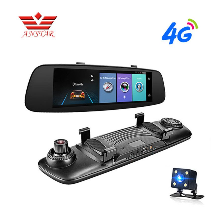 ANSTAR 4G Car DVRs ADAS Remote Monitor Rear View Mirror With DVR 8